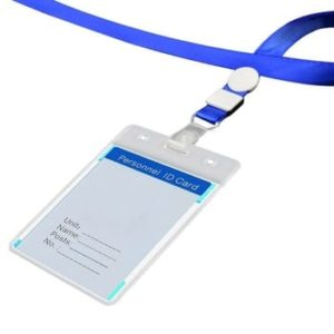 All Colour Flat Type with Holder Attach ID Card Lanyard/Tag