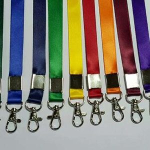 All Colour Indian Satin 12MM with Different Type Fitting ID Card Lanyard/Tag
