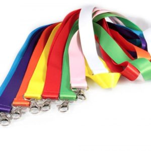 All Colour Indian Satin 20MM with Different Type Fitting ID Card Lanyard/Tag