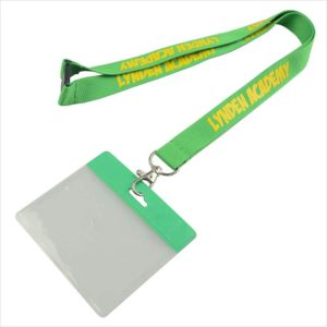 All Size Indian Satin with Holder Attach ID Card Lanyard/Tag