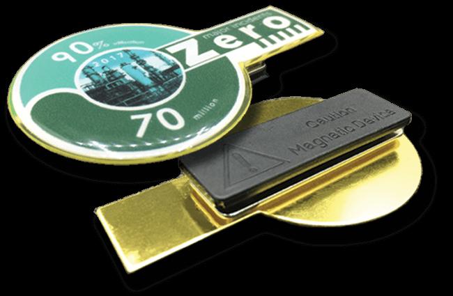 Custom Shape Magnetic Badges