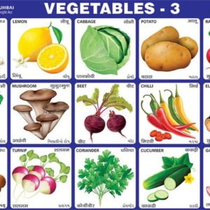Educational Vegetables Charts