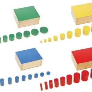 Knobless Coloured Cylinder - Montessori Educational Materials