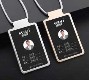 Metal Type Insert Model ID Card Holder