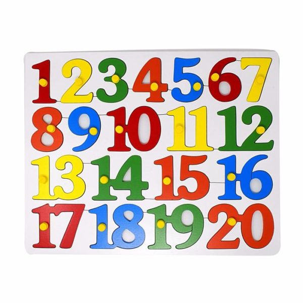 Number Board with Knob - Wooden Educational Equipment