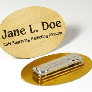 Oval Magnetic Badges