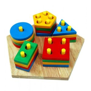 Shape & Colour Stacking Board - Educational Equipments