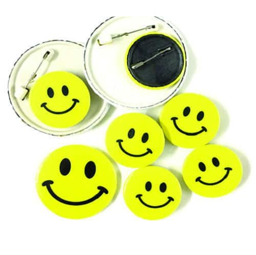 Costume Size Smiley Badge