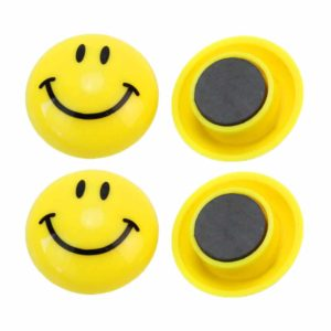 Magnet type Smiley Fridge Badge
