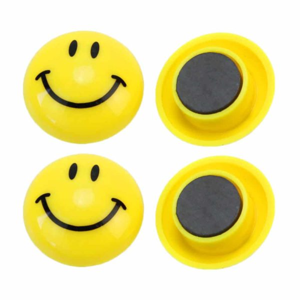 Magnet type Smiley Fridge Badge
