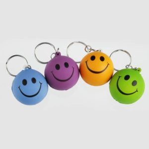 Smiley Badge Key Chain Type